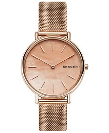 Women's Signatur Rose Gold-Tone Stainless Steel Mesh Bracelet Watch 36mm