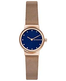 Women's Freja Rose Gold-Tone Mesh Bracelet Watch 26mm