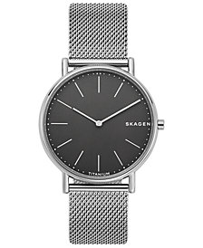 Skagen Men's Signatur Slim Smoke Stainless Steel Mesh Strap Watch 40mm