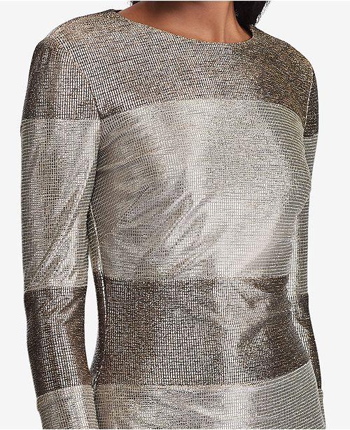 347382ebdc456 Lauren Ralph Lauren Metallic Striped Dress - Dresses - Women - Macy s