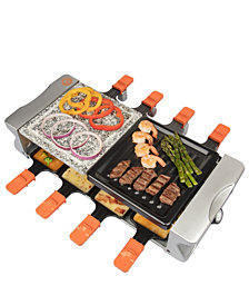 MasterChef Deluxe Cheese 8-Pan Raclette and Grill