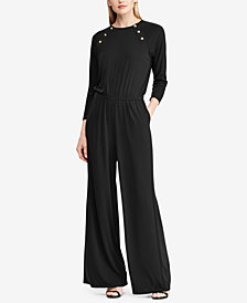 Lauren Ralph Lauren Rivet-Trim Jumpsuit