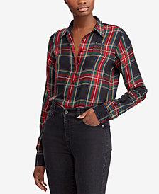 Lauren Ralph Lauren Crest Tartan Twill Shirt