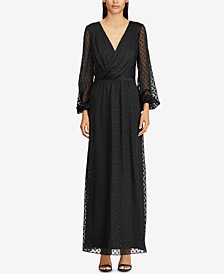 Lauren Ralph Lauren Jacquard-Knit Surplice Dress