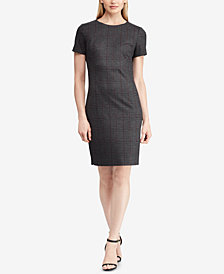 Lauren Ralph Lauren Plaid Ponté Dress