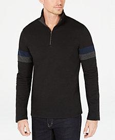 Calvin Klein Men's Striped Sleeve Pullover Sweater