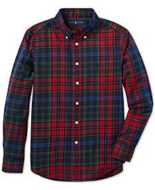 Polo Ralph Lauren Big Boys Plaid Cotton Twill Shirt