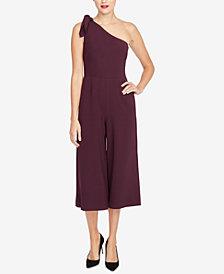 RACHEL Rachel Roy Cropped One-Shoulder Jumpsuit, Created for Macy's