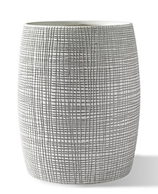 Kassatex Raffia Embossed Porcelain Wastebin