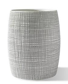 Cassadecor Cestino Embossed Porcelain Wastebasket