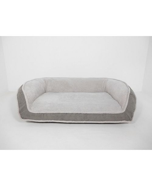 Arlee Home Fashions CLOSEOUT! Arlee Deep Seated Lounger Sofa and Couch Style Pet Bed, Large