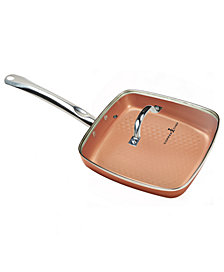 "Copper Chef Diamond 9.5"" Square Pan with Lid"