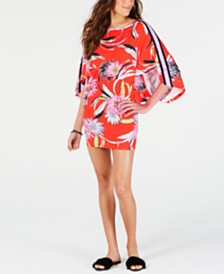 Trina Turk Shangri La Floral Tunic Cover-Up
