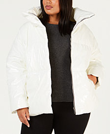 Calvin Klein Performance Plus Size Shiny Puffer Jacket