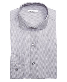 Bar III Men's Classic/Regular Fit Stretch Connected Diamond Dobby Dress Shirt, Created for Macy's