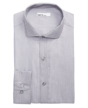 Image of Bar Iii Men's Classic/Regular Fit Stretch Connected Diamond Dobby Dress Shirt, Created for Macy's