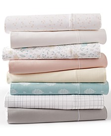 CLOSEOUT! Solid and Printed Sheet Sets, 300 Thread Count Hygro Cotton, Created for Macy's