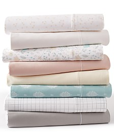 CLOSEOUT! Goodful™ Solid and Printed Sheet Sets, 300 Thread Count Hygro Cotton, Created for Macy's