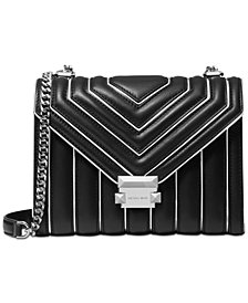 MICHAEL Michael Kors Whitney Outlined Quilted Leather Shoulder Bag