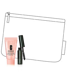 Receive a FREE Moisture Surge Concentrate and High Impact Mascara, plus a mystery Clinique Cosmetics Bag with $85 Clinique purchase!