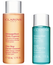 Free 2pc Cleansing Gift with your $75 Clarins purchase!