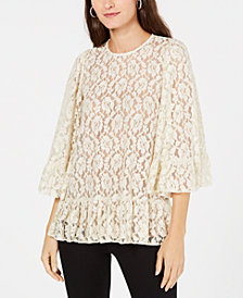 MICHAEL Michael Kors Metallic-Lace Top