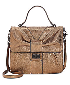 Betsey Johnson Metallic Top-Handle Crossbody