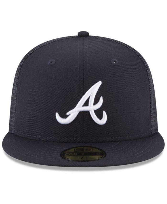 New Era Atlanta Braves On-Field Mesh Back 59FIFTY Fitted Cap & Reviews - Sports Fan Shop By Lids - Men - Macy's
