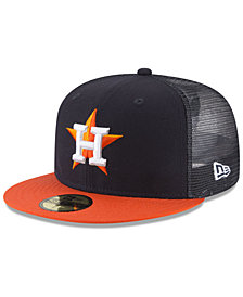 New Era Houston Astros On-Field Mesh Back 59FIFTY Fitted Cap