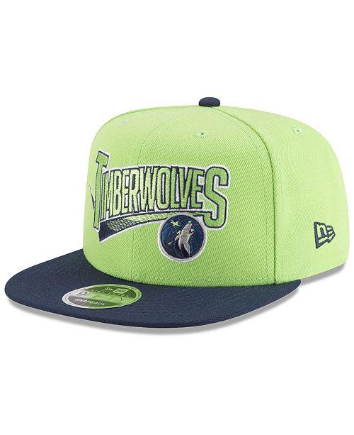 100% quality best good looking New Era Minnesota Timberwolves Retro Tail 9FIFTY Snapback Cap ...