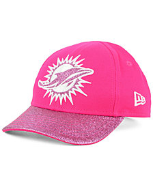New Era Girls' Miami Dolphins Shimmer Shine Adjustable Cap