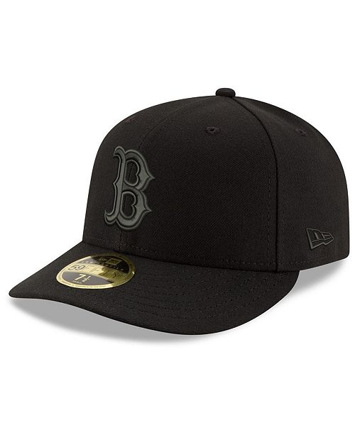 3973bb1ce75 ... New Era Boston Red Sox Triple Black Low Profile 59FIFTY Fitted Cap ...