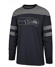 '47 Brand Men's Seattle Seahawks Gunner Crew Long Sleeve T-Shirt