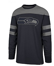 '47 Brand Men's Seattle Seahawks Gunner Crew Long Sleeve T-Shirt