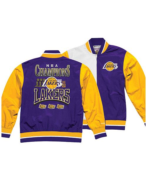 daae3648cdc ... Up Jacket; Mitchell & Ness Men's Los Angeles Lakers History Warm ...