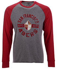 '47 Brand Men's San Francisco 49ers Retro Encircled Long Sleeve Club Raglan T-Shirt