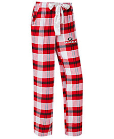Concepts Sport Women's Georgia Bulldogs Homestretch Flannel Pajama Pants