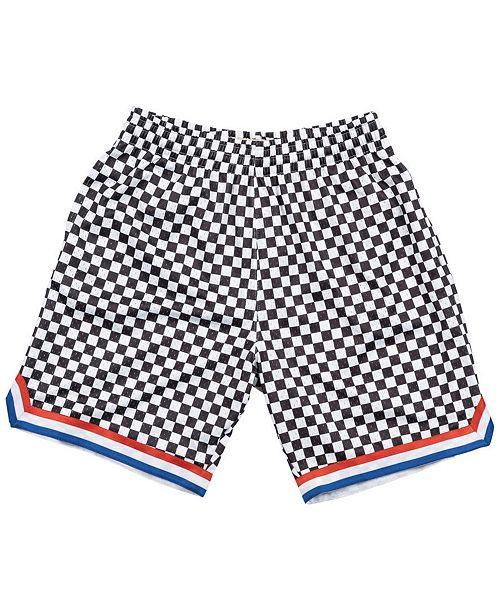 Mitchell & Ness Men's Cleveland Cavaliers Checkerboard Swingman Shorts