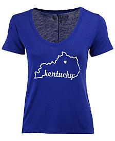 Retro Brand Women's Kentucky Wildcats Rayon V-Neck T-Shirt
