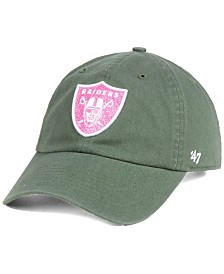 '47 Brand Women's Oakland Raiders Moss Glitta CLEAN UP Cap