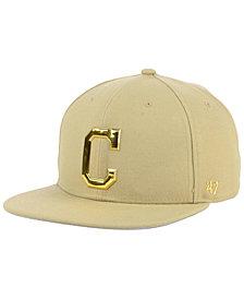 '47 Brand Cleveland Indians Khaki Snapback Cap