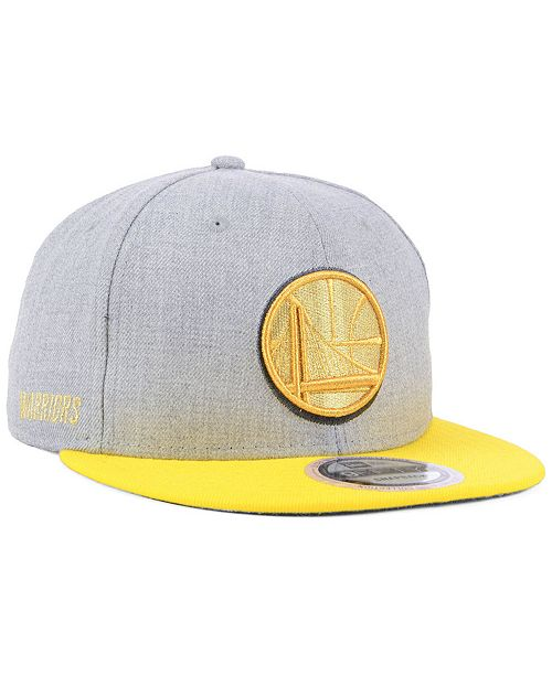 purchase cheap 746d1 44a01 ... New Era Golden State Warriors Heather Metallic 9FIFTY Snapback Cap ...