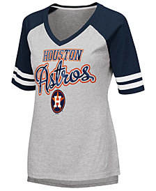 G-III Sports Women's Houston Astros Goal Line Raglan T-Shirt