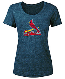 5th & Ocean Women's St. Louis Cardinals Tri-Blend Crew T-Shirt