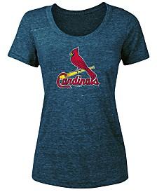 5th & Ocean Women's St. Louis Cardinals Tri-Blend Crew T-Shirt