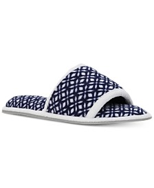 Dearfoams Women's Microfiber Terry Slide Slipper, Online Only