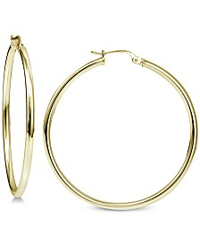 Giani Bernini Polished Hoop Earrings in 18k Gold-Plated Sterling Silver, Created for Macy's