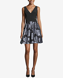Xscape Printed Fit & Flare Dress