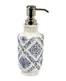 Lakki Stamped Porcelain  Lotion Pump
