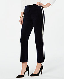 Tommy Hilfiger Velvet Side-Striped Pants, Created for Macy's